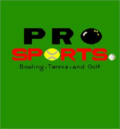 Title screen of Pro Sports - Bowling, Tennis, and Golf on the Arcade.