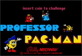 Title screen of Professor Pac-Man on the Arcade.
