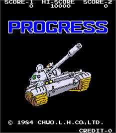 Title screen of Progress on the Arcade.