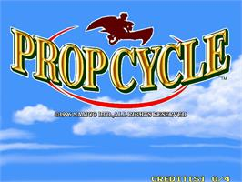 Title screen of Prop Cycle on the Arcade.