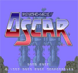 Title screen of Psycho-Nics Oscar on the Arcade.