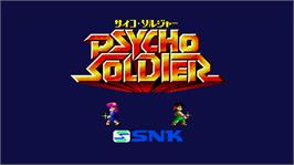 Title screen of Psycho Soldier on the Arcade.
