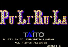 Title screen of PuLiRuLa on the Arcade.
