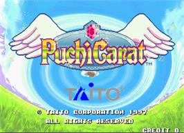 Title screen of Puchi Carat on the Arcade.