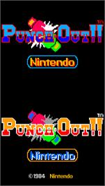 Title screen of Punch-Out!! on the Arcade.