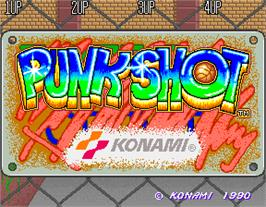 Title screen of Punk Shot on the Arcade.