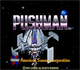 Title screen of Pushman on the Arcade.