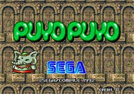 Title screen of Puyo Puyo on the Arcade.