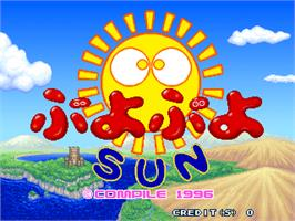 Title screen of Puyo Puyo Sun on the Arcade.