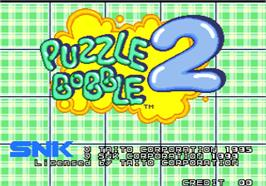 Title screen of Puzzle Bobble 2 / Bust-A-Move Again on the Arcade.