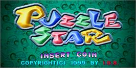 Title screen of Puzzle Star on the Arcade.