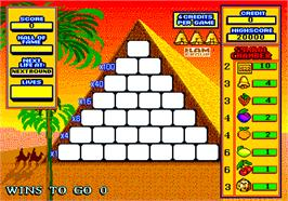 Title screen of Pyramid on the Arcade.