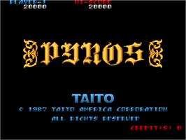 Title screen of Pyros on the Arcade.