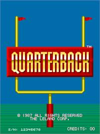 Title screen of Quarterback on the Arcade.