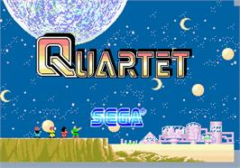 Title screen of Quartet on the Arcade.