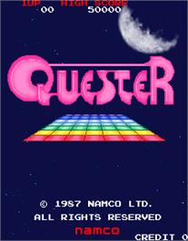 Title screen of Quester on the Arcade.