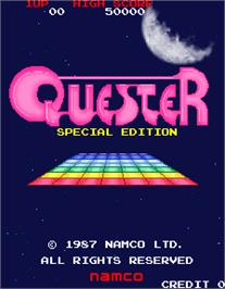 Title screen of Quester Special Edition on the Arcade.