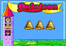 Title screen of Quintoon on the Arcade.