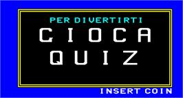 Title screen of Quiz on the Arcade.
