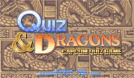 Title screen of Quiz & Dragons: Capcom Quiz Game on the Arcade.
