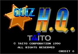 Title screen of Quiz H.Q. on the Arcade.