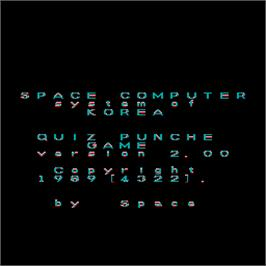 Title screen of Quiz Punch 2 on the Arcade.