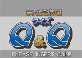 Title screen of Quiz TV Gassyuukoku Q&Q on the Arcade.