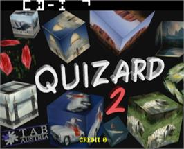 Title screen of Quizard 2.2 on the Arcade.