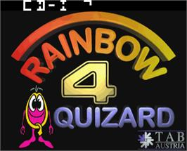 Title screen of Quizard Rainbow 4.1 on the Arcade.