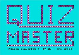 Title screen of Quizmaster on the Arcade.