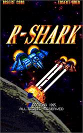 Title screen of R-Shark on the Arcade.
