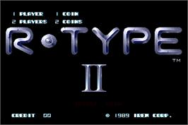 Title screen of R-Type II on the Arcade.