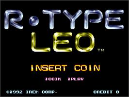 Title screen of R-Type Leo on the Arcade.