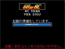 Title screen of RC De Go on the Arcade.