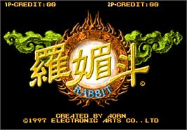 Title screen of Rabbit on the Arcade.