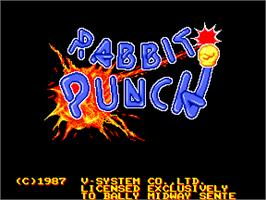 Title screen of Rabbit Punch on the Arcade.