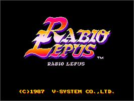 Title screen of Rabio Lepus on the Arcade.