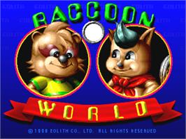 Title screen of Raccoon World on the Arcade.