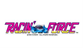 Title screen of Racin' Force on the Arcade.