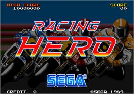 Title screen of Racing Hero on the Arcade.