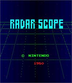 Title screen of Radar Scope on the Arcade.