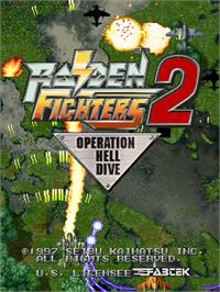 Title screen of Raiden Fighters 2.1 on the Arcade.