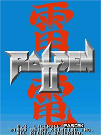 Title screen of Raiden II on the Arcade.