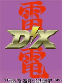 Title screen of Raiden II / DX on the Arcade.