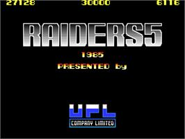 Title screen of Raiders5 on the Arcade.