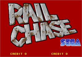 Title screen of Rail Chase on the Arcade.