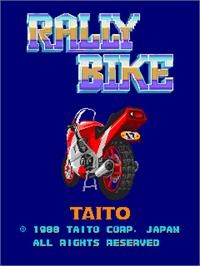 Title screen of Rally Bike / Dash Yarou on the Arcade.