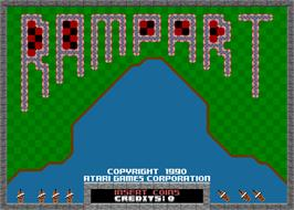 Title screen of Rampart on the Arcade.