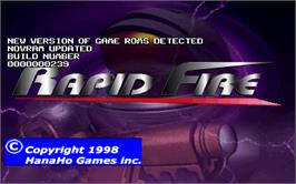 Title screen of Rapid Fire v1.1 on the Arcade.