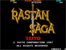 Title screen of Rastan Saga on the Arcade.